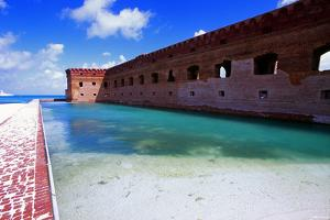 Moat of Fort Jefferson by George Oze
