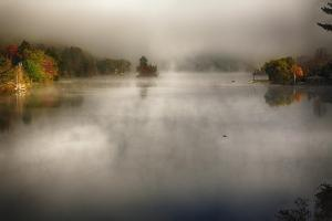 Morning Fog On A Vermont Lake In Autumn by George Oze