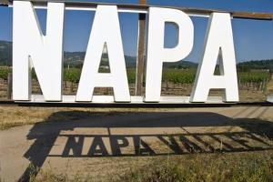 Napa Valley Sign by George Oze