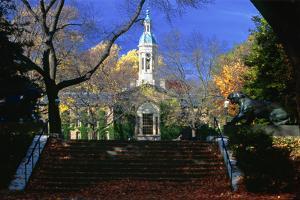 Nassau Hall Tower, Princeton University, NJ by George Oze