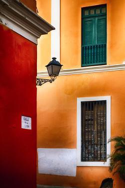 Old San Juan Street Corner Charm by George Oze