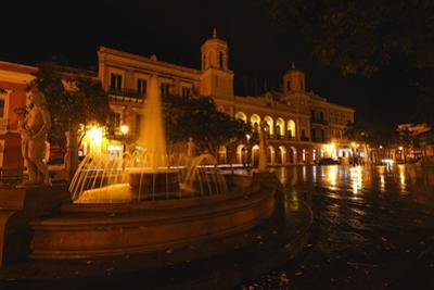 Plaza De Armas at Night, San Juan, PR by George Oze