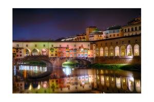 Ponte Vecchio at Night, Florence, Italy by George Oze