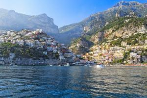 Positano Harbor View, Italy by George Oze