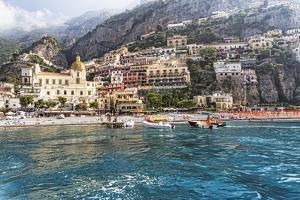 Positano Seaside View, Amalfi Coast, Italy by George Oze