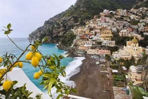 Positano Spring Scenic Vista, Amalfi Coast, Italy by George Oze
