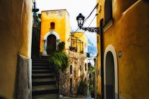 Positano Street Scenic, Campania, Italy by George Oze