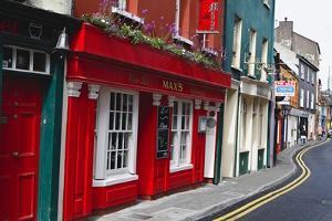 Pubs Lined Street, Kinsale, Ireland by George Oze
