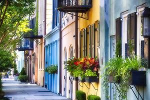 Rainbow Row I, Charleston South Carolina by George Oze