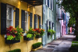 Rainbow Row II, Charleston South Carolina by George Oze