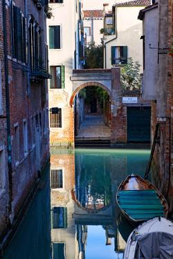 Reflection in a Canal, Venice, Italy by George Oze
