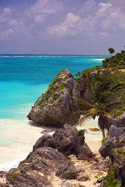 Rocky Cove, Tulum Beach, Yucatan, Mexico by George Oze