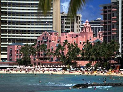 "Royal Hawaiian or ""Pink Palace"" Hotel, Waikiki Beach"
