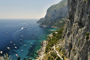 Rugged Coastline at Marina Piccola, Capri, Italy by George Oze