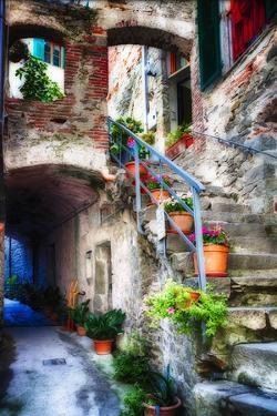 Rustic Alley In Corniglia, Cinque Terre, Italy by George Oze