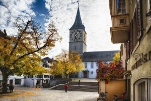 Saint Peters Church, Zurich, Switzerland by George Oze