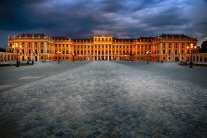 Schonbrunn Palace At Night, Vienna, Austria by George Oze