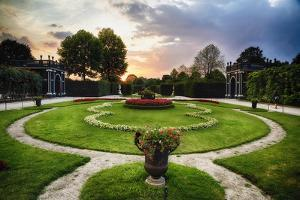 Schonbrunn Palace Garden at Sunset by George Oze