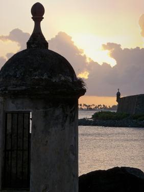 Sentry Post In San Juan Bay, Puerto Rico by George Oze