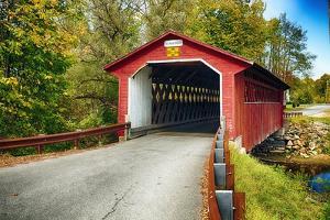 Silk Covered Bridge, Bennington, Vermont by George Oze