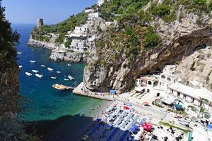 Small Amalfi Coast Beach at Praiano, Italy by George Oze