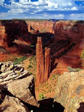 Spider Rock, Canyon De Chelly,Arizona by George Oze