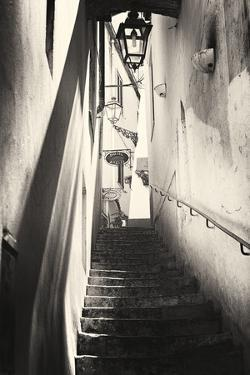 Steps in an Alley, Amalfi, Italy by George Oze