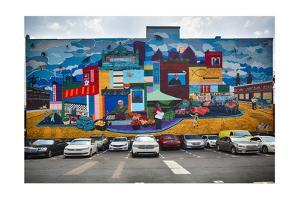 Strip District Wall Mural, Pittsburgh, PA by George Oze