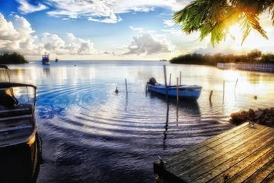 Sunset in a Fishing Village, Puerto Rico by George Oze