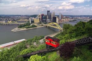 The Duquesne Incline, Pittsburgh, Pennsylvania by George Oze