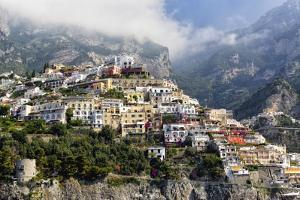 Town Built on a Hillside, Positano, Italy by George Oze