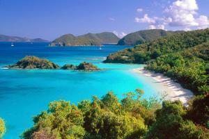 Trunk Bay Panorama, Saint John, US Virgin Islands by George Oze