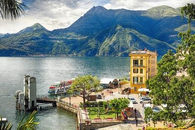 Varenna Harbor on Lake Como, Italy by George Oze