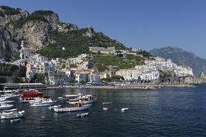 View of Amalfi Harbor, Campania, Italy by George Oze