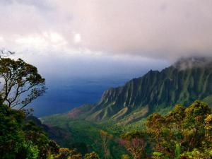 View of The Kalalau Valley, Kauai, Hawaii by George Oze