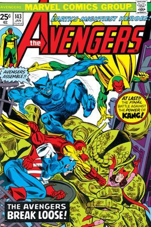 Avengers No.143 Cover: Beast, Captain America, Iron Man, Vision and Avengers by George Perez