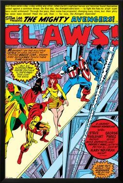 Avengers No.144 Group: Captain America, Iron Man, Vision, Beast and Avengers Flying by George Perez