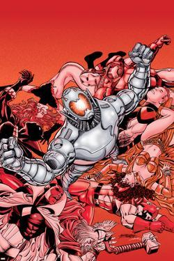 Avengers No.22 Cover: Ultron and Avengers by George Perez