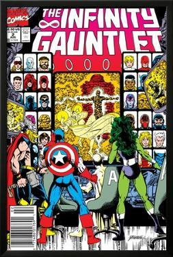 Infinity Gauntlet No.2 Cover: Captain America, Thor and She-Hulk by George Perez