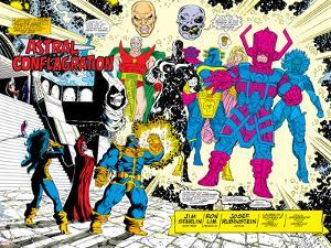 Infinity Gauntlet No.5 Group: Thanos by George Perez