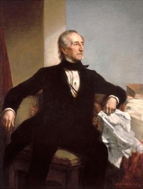 Official White House Portrait of President John Tyler by George Peter Alexander Healy