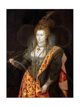 Portrait of Elizabeth I of England, in Ballet Costume as Iris by George Peter Alexander Healy