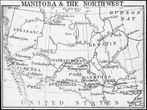 Map of Manitoba and the Northwest, Canada, C1893 by George Philip & Son