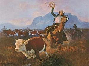 Round Up Time by George Phippen