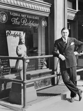George Preston Marshall, Owner of Washington Redskins at the Clubs Offices in 1940