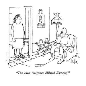 """""""The chair recognizes Mildred Harkevey."""" - New Yorker Cartoon by George Price"""