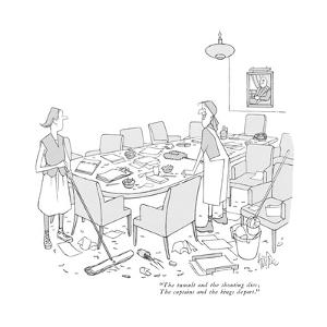 """""""The tumult and the shouting dies; The captains and the kings depart."""" - New Yorker Cartoon by George Price"""