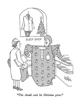 """""""This should cook his Christmas goose."""" - New Yorker Cartoon by George Price"""