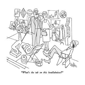 """""""What's the tab on this bouillabaisse?"""" - New Yorker Cartoon by George Price"""
