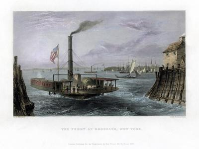 The Ferry at Brooklyn, New York, USA, 1838